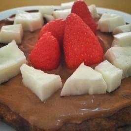 Receita de panqueca de chocolate low carb sem trigo e sem açúcar